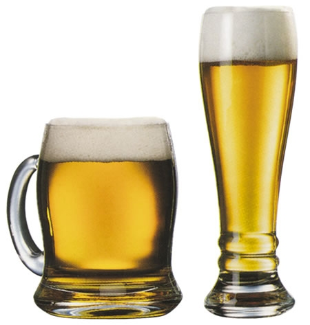 Korsó és pohár sör