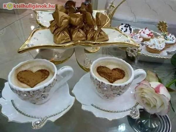 Kávé, kávéskészlet, bonbon