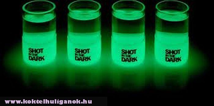 Fluoreszkáló shotos pohár